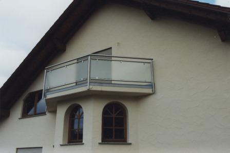 Gelander Edelstahl Balkongelander Mit Glas Als Sichtschutz Und