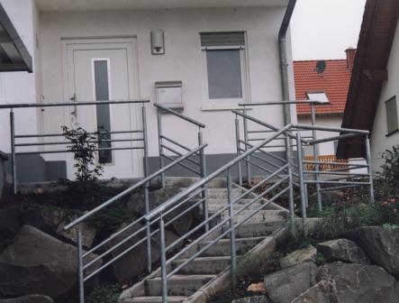 Gelander Gelander Verzinkt Als Treppengelander Im Aussenbereich Mit