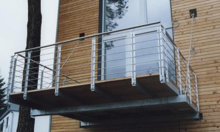 Balkongeländer Glas Modern: Geländer Edelstahlgeländer Als ... Gelander Am Balkon Bauen