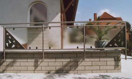 Glas Terrasse sonstiges sichtschutzelement seitlich an einer terrasse mit
