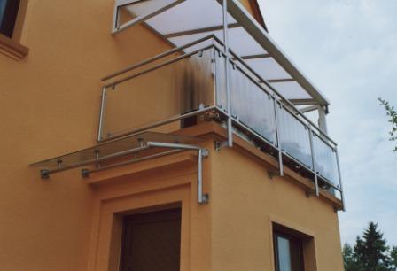 Geländer mit glasfüllung edelstahl