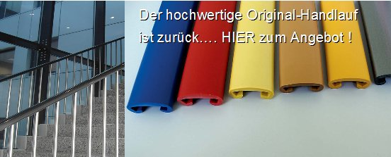 Bevorzugt Handläufe aus Kunststoff LY22